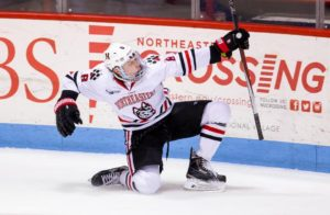 Adam Gaudette. Photo Credit: The Boston Globe